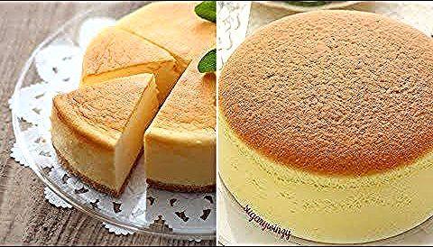Japanese Cheese Cake تشيز كيك ياباني سريع مع كافة الملاحظات الخاصة بالخبز والتقديم Youtube Japanese Cheese Food Cheesecake