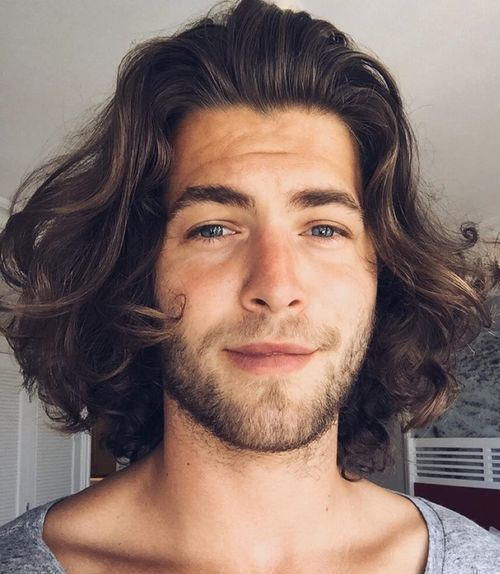 Medium Men S Hairstyle For Curly Hair With Images Mens