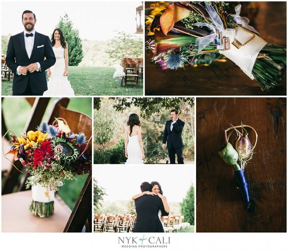 Nyk + Cali, Wedding Photographers | Nashville, TN | Front Porch Farms | Wedding | First look | Sweet moments | Jewel tones