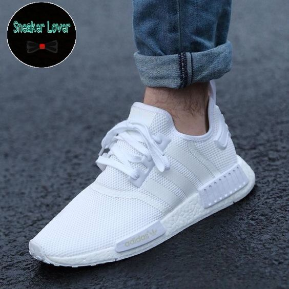 adidas nmd all white