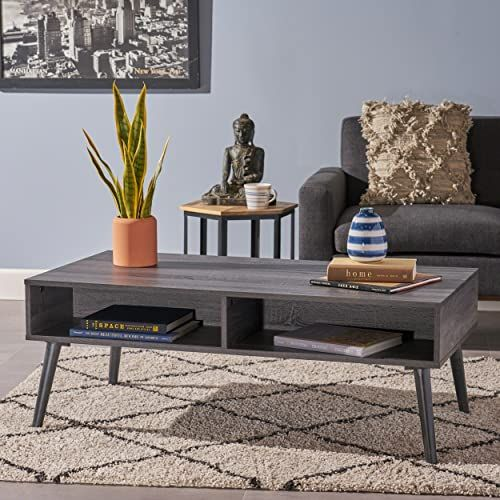 The Christopher Knight Home Andy Mid Century Modern Fuax Wood Overlay Coffee Table Grey Oak Online Shopping In 2020 Living Room Furniture Furniture Oak Furniture Living Room
