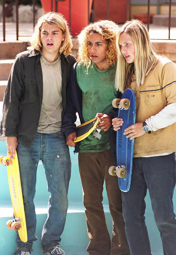Lords of Dogtown: actors portraying real-life skateboarding icons (l-r) Jay Adams, Tony Alva and Stacy Peralta.  GREAT MOVIE