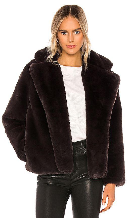 Apparis Manon Faux Fur Coat In Black In Ebene Faux Fur Coat Fur Coat Coat