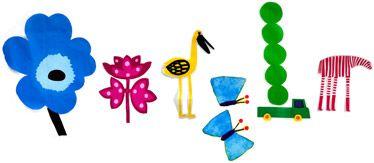 Otro precioso Doodle de Google para dar la bienvenida a la Primavera. Diseño de Marimeko http://www.marimekko.com/