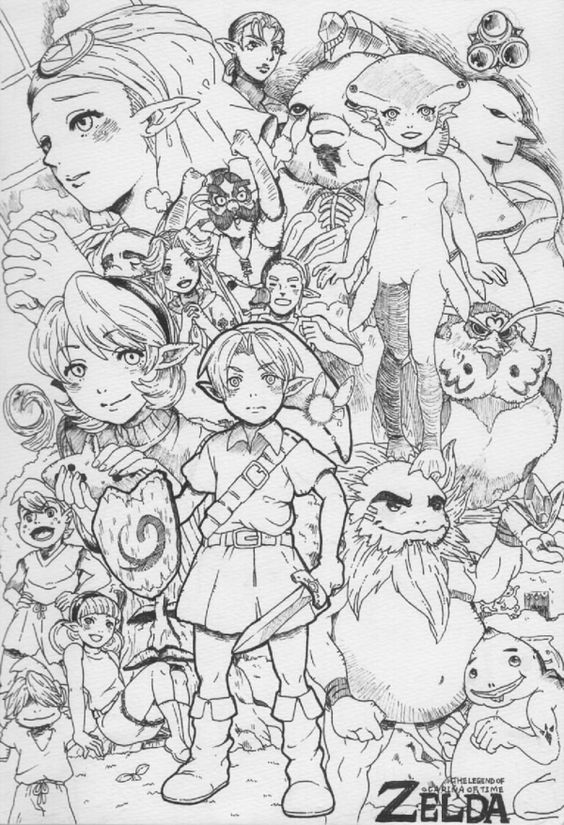 Pin By Sarah Evans On Coloring Stuff 2 Zelda Art Coloring Book Art Coloring Pages