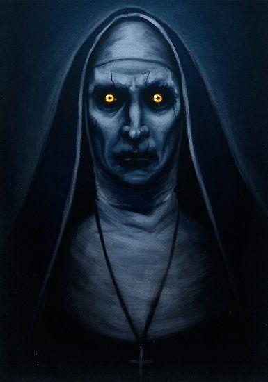 Poster Pintura Valak De Sam C Horror Art Scary Scary Paintings Horror Artwork