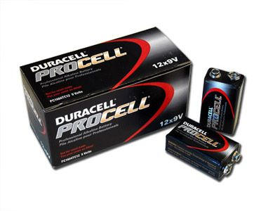 (Limited Supply) Click Image Above: 1 Box: 12pcs Duracell Procell 9v Size (pc1604) Alkaline Batteries