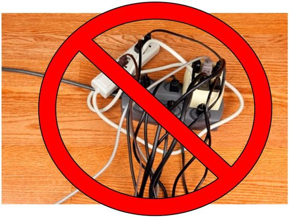 Never Overload Extension Cords  Extension Cords Are For