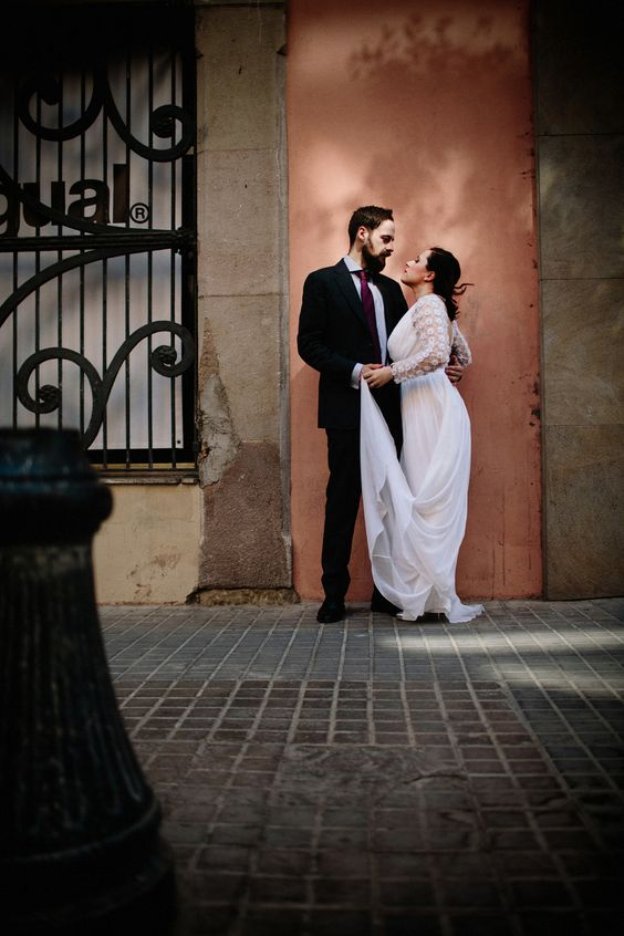 Image by Claudia Rose Carter - Temperley Wedding Dress For An Intimate Barcelona Elopement Images By Claudia Rose Carter