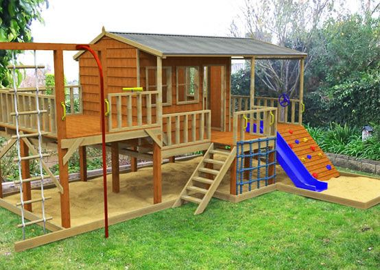 kids gym outdoor play areas and cubby houses on pinterest