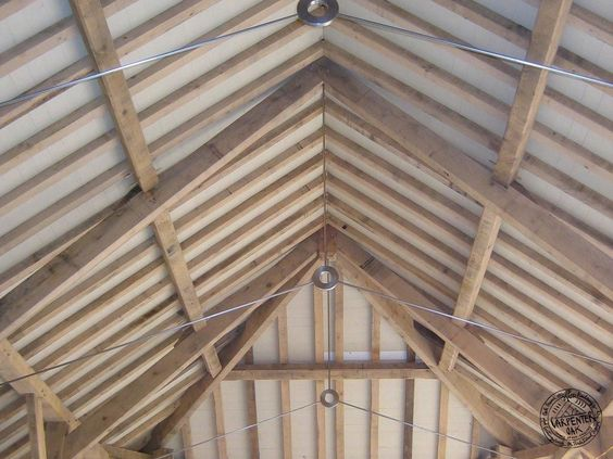 Vaulted Ceiling Structural Ties Google Search Roof Beam Timber Framing Roof Trusses