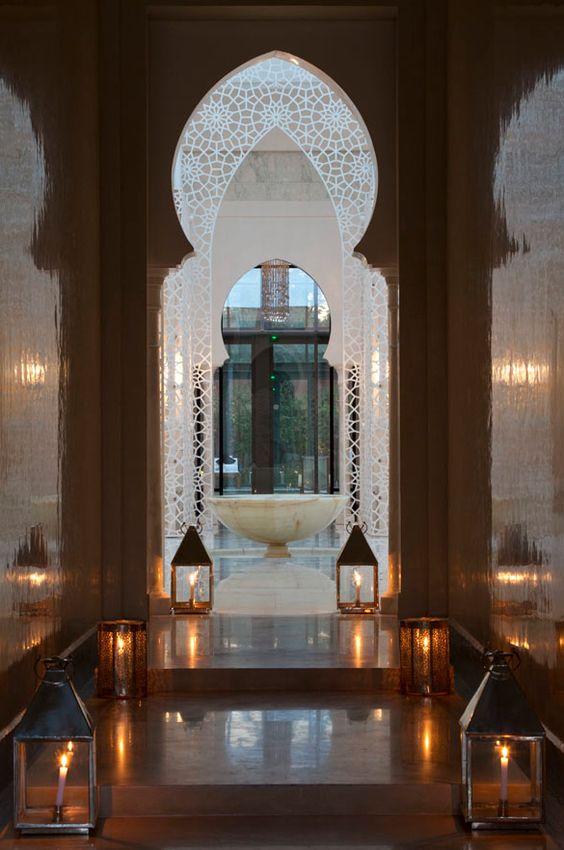 doorway at Royal Mansour hotel - Marrakesh