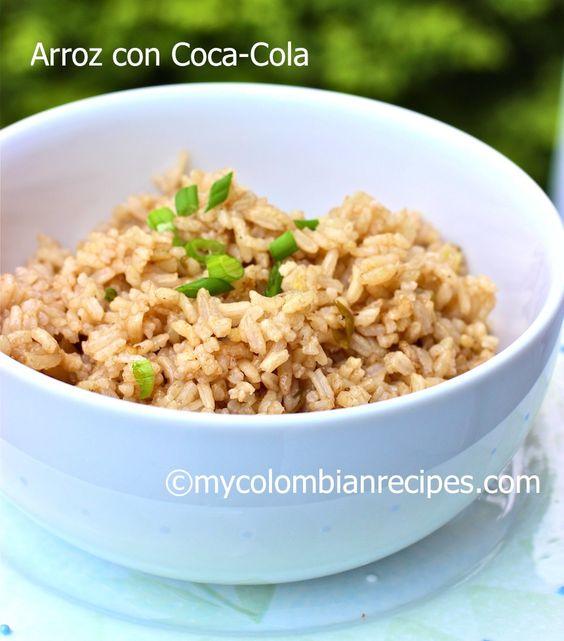 Receta de Arroz con Coca-Cola en español |mycolombianrecipes.com