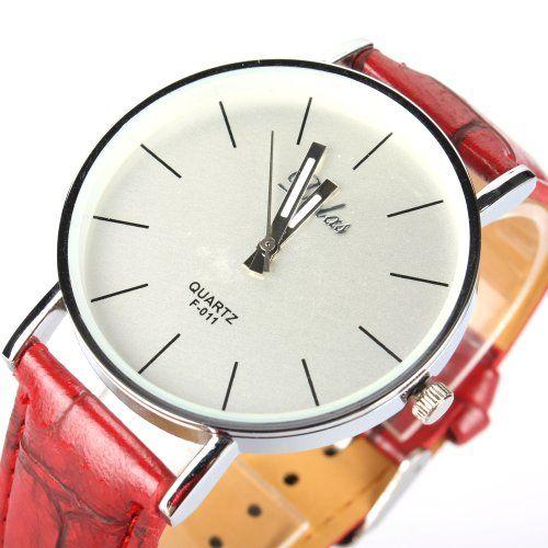 Orrorr?Fashion Style Unisex Einfache Stlye Quarz-Sport -Uhr PU- Leder-Armbanduhr Rot - http://uhr.haus/orrorr-8/orrorr-fashion-style-unisex-einfache-stlye-quarz