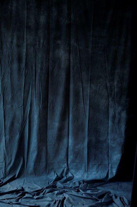 Pair of curtain panels blue velvet wall hangings and for Velvet curtains background