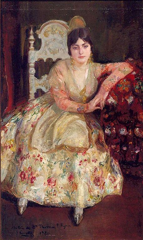 Valencianas Pintadas:  Joaquín Sorolla y Bastida (Valencia, 1863 - 1923 )