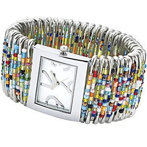 DIY Safety Pin Watch.....I made one of these once before but this is a better way!