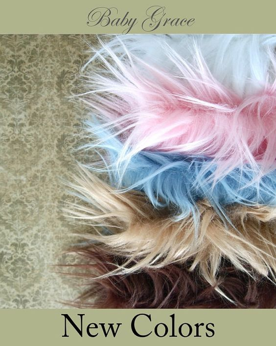 Photography Props Faux Fur Fabric Newborn Photo by BabyGraceHats