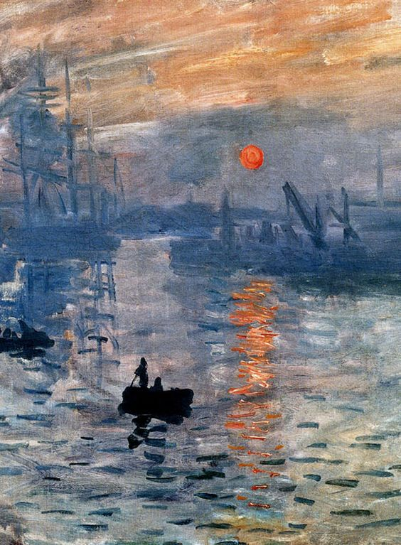 Impression ~ 'Sunrise' detail ~ Claude Monet