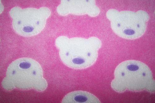 Antipilling Fleece Polarfleece Wellnessfleece Bären Bärchen Teddy rosa