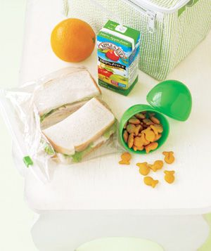 Use plastic easter eggs as containers for tiny snacks in a kid's (or adult's) lunch!