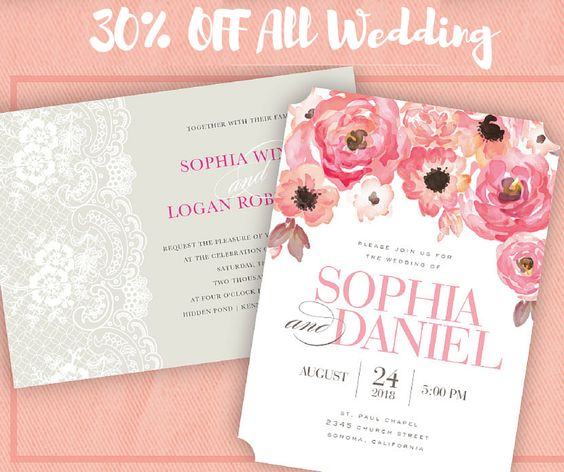 Enjoy 30% OFF all things wedding when you shop online until May 31st! Shop Printswell Save the Dates, Wedding Invitations, Party Invitations, Shower Invitations, and wedding accessories all at a discounted price.