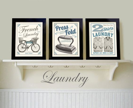 Wall art grouping french laundry bathroom art country wall art