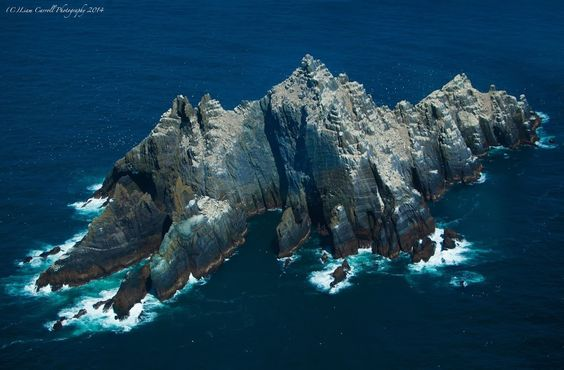 Aerial photo of Small Skelligs, Co. Kerry by Liam Carroll. #wildatlanticway