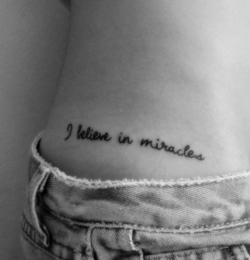 i believe in miracles.