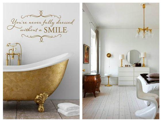 Painel de inspiração branco e dourado + Decoração | Andrea Velame Blog