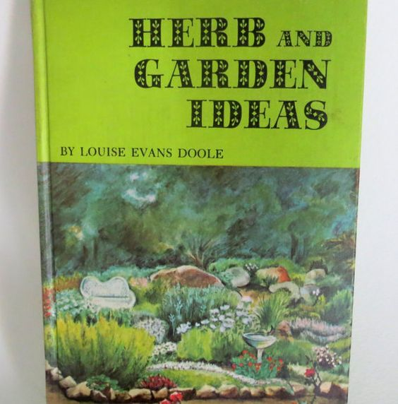 Vintage Children's Gardening Book  Herbs   by chrystelle on Etsy