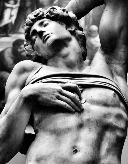 Michelangelo ~ Dying Slave ~ original marble ~1513 ~ Plaster cast ~ 1863 ~ Victoria and Albert Museum