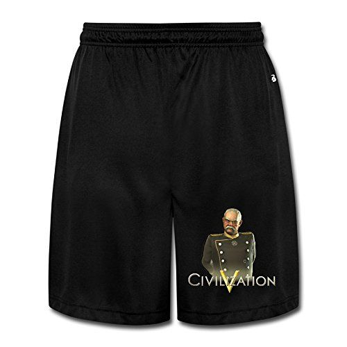 DW Athletic Men's Sid Meier's Civilization V Running Shorts With Pockets - XX-Large