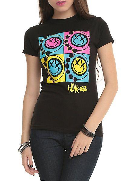 Blink-182 Pop Art Boxes Girls T-Shirt | Hot Topic