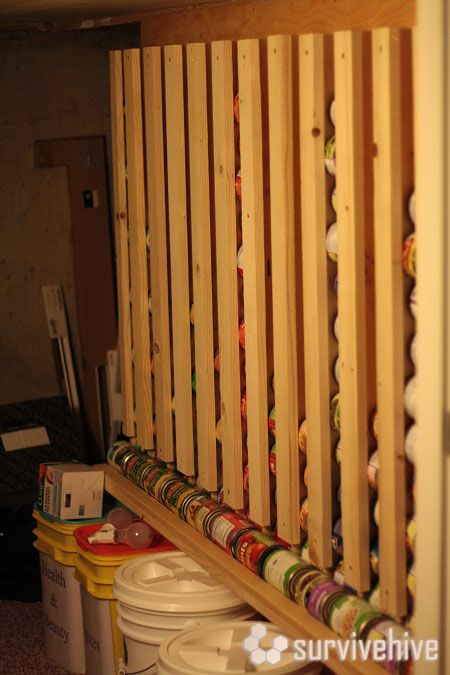 diy wall hanging canned food storage tutorial for the