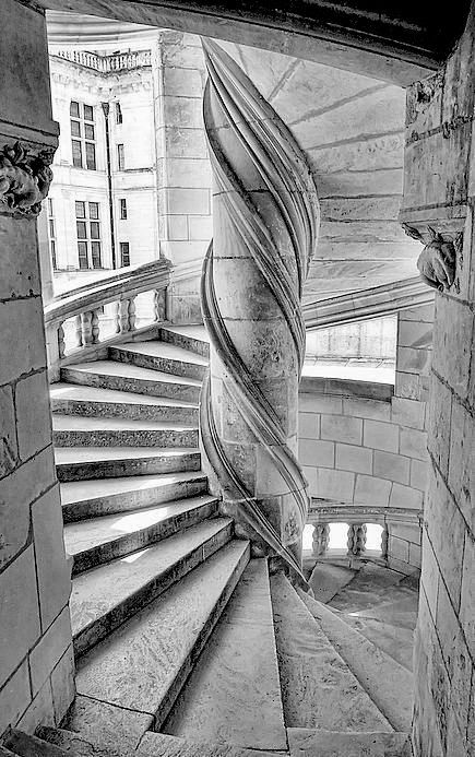 escalier du chateau de chambord france pinterest chateaus. Black Bedroom Furniture Sets. Home Design Ideas