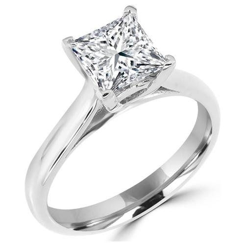 1 Ct Round Cz Cathedral Engagement Ring With Side Stones 43