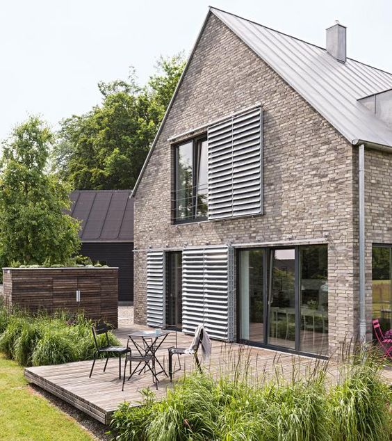 Haus on pinterest for Modernes backsteinhaus