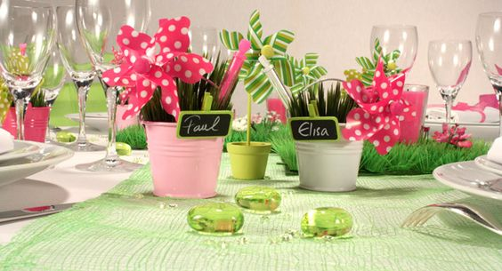Photo decorations, Spring colors and Table decorations on Pinterest