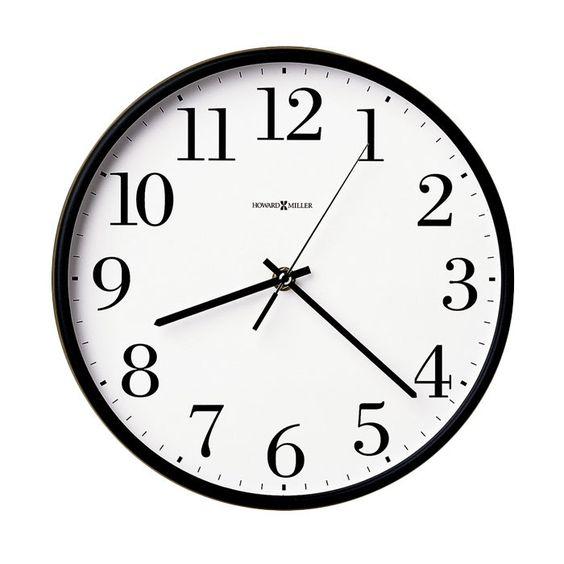 Office wall clock.