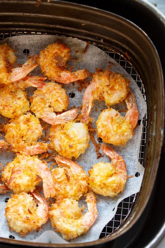 Crispy Air Fryer Coconut Shrimp with Dipping Sauce