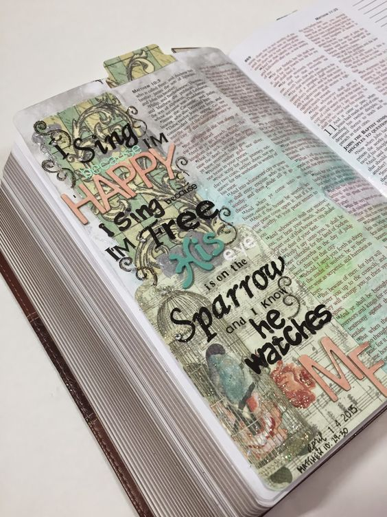 ABC Bible Journaling Challenge | Your Favorite Hymn : His Eye is on the Sparrow