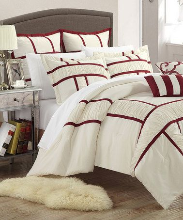 Another great find on #zulily! Red Tuscan Comforter Set #zulilyfinds