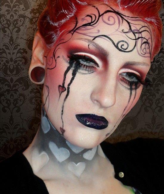 Broken heart dramatic Valentine's day   makeup tutorial  – Makeup Geek Idea Gallery