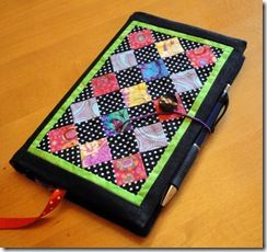 Mini quilt journal cover