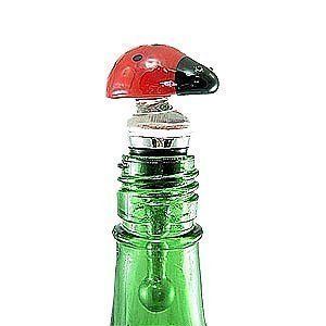 "LSArts Inc Ladybug Bottle Stopper by LS Arts. $16.95. Great addition to bottle that sit out on display. Features a fun and elegant ladybug design. Great house warming gift idea. Comes in a simple black gift box. Stopper is 4"" tall. This elegant reusable glass and metal bottle stopper with rubber seal makes a great gift for wine or spirits."