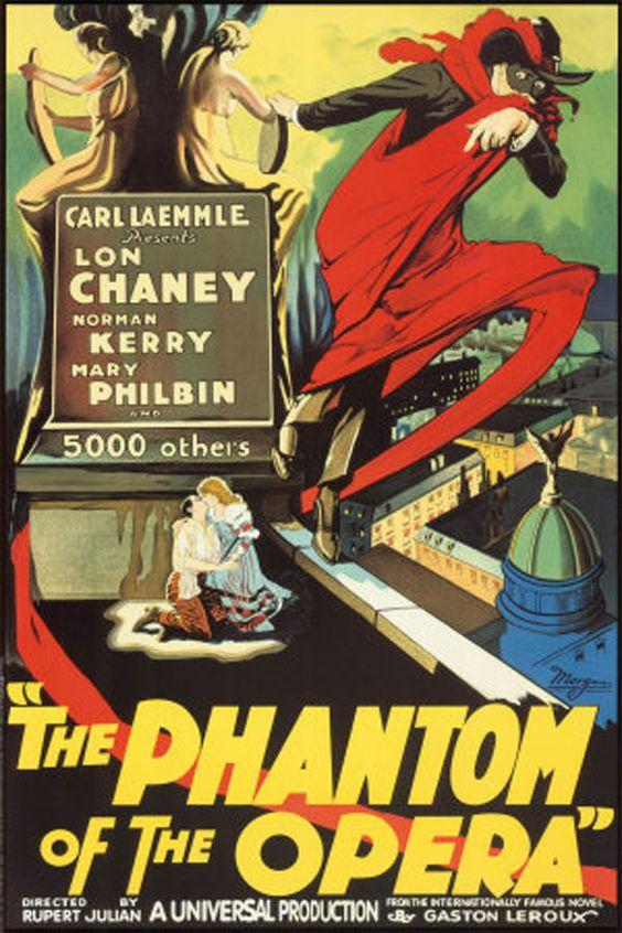 "Lon Chaney  ""Phantom of the Opera"" Vintage Poster"
