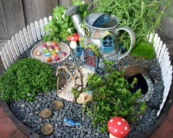 mini jardim reciclado:Make Fairy Garden