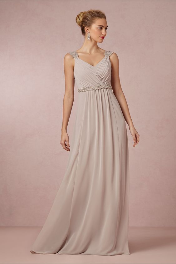Freya maxi dress from bhldn the ultimate blush champagne for Shoes for maxi dress wedding