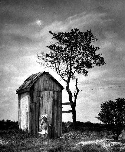 1950: Outhouse, that was me when I was little